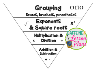 Caffeine and Lesson Plans: Order of Operations Scavenger Hunt
