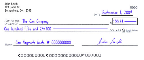 how to write a check with cents only