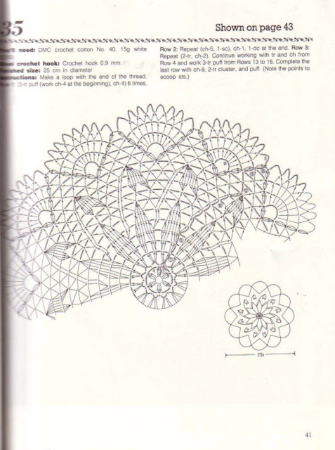 World crochet: Napkin 264