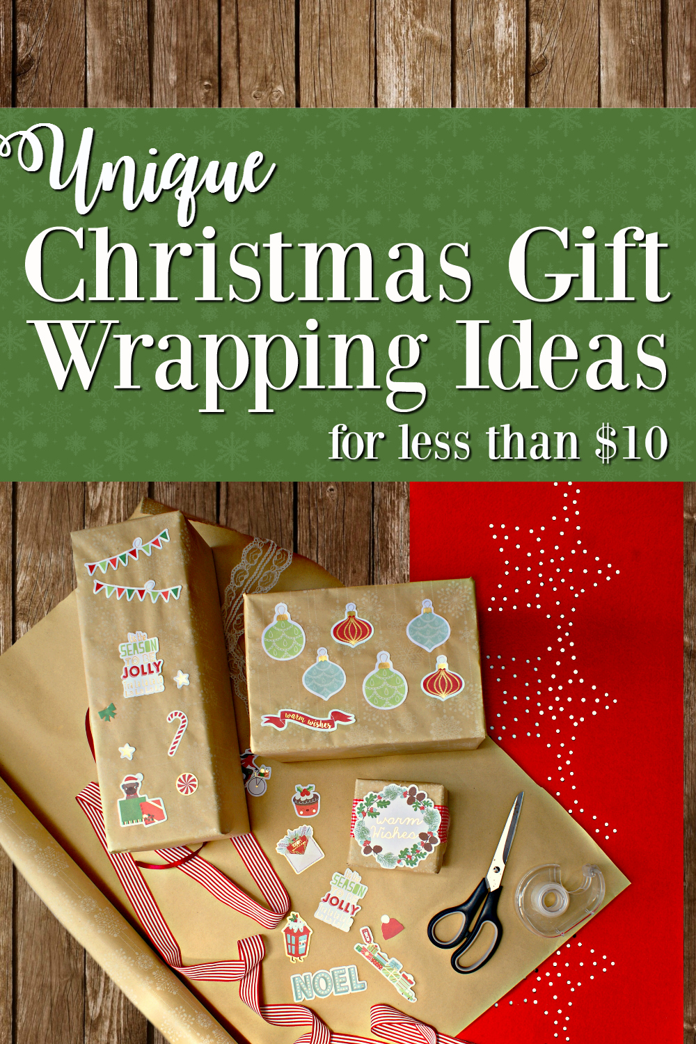 Easy Unique Gift Wrapping Ideas for Christmas - Modern, Vintage, Boho, Rustic Holiday, Black White Gold and Other Beautiful Holiday Ideas, Cheap, Easy, Creative