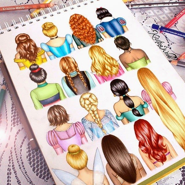 21-Disney-Hair-Kristina-Webb-Colour-me-Creative-Drawings-www-designstack-co