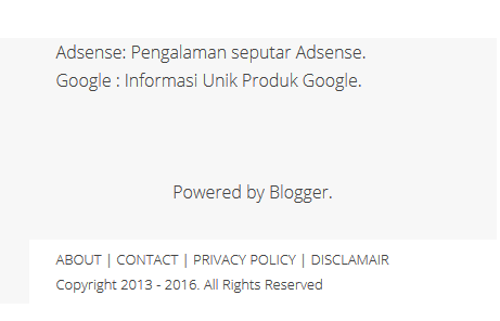 Cara membuat About Contact Privacy Policy Disclamair & Site Map Otomatis+SEO Friendly