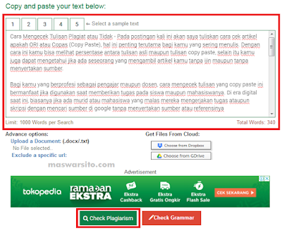 cara mengecek tulisan atau artikel copy paste atau bukan