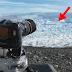 Este hombre escucha que algo cruje en el glaciar y se queda paralizado. Lo que vio después supera cualquier pesadilla