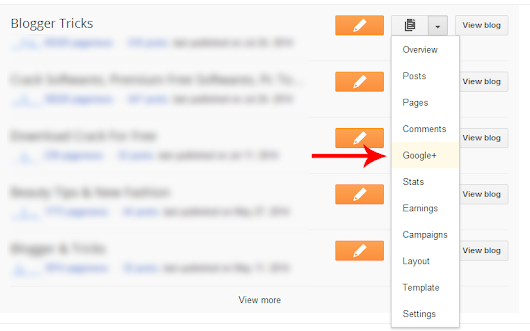 How to automatically share your Blogger post on Google + | Blogger Tricks