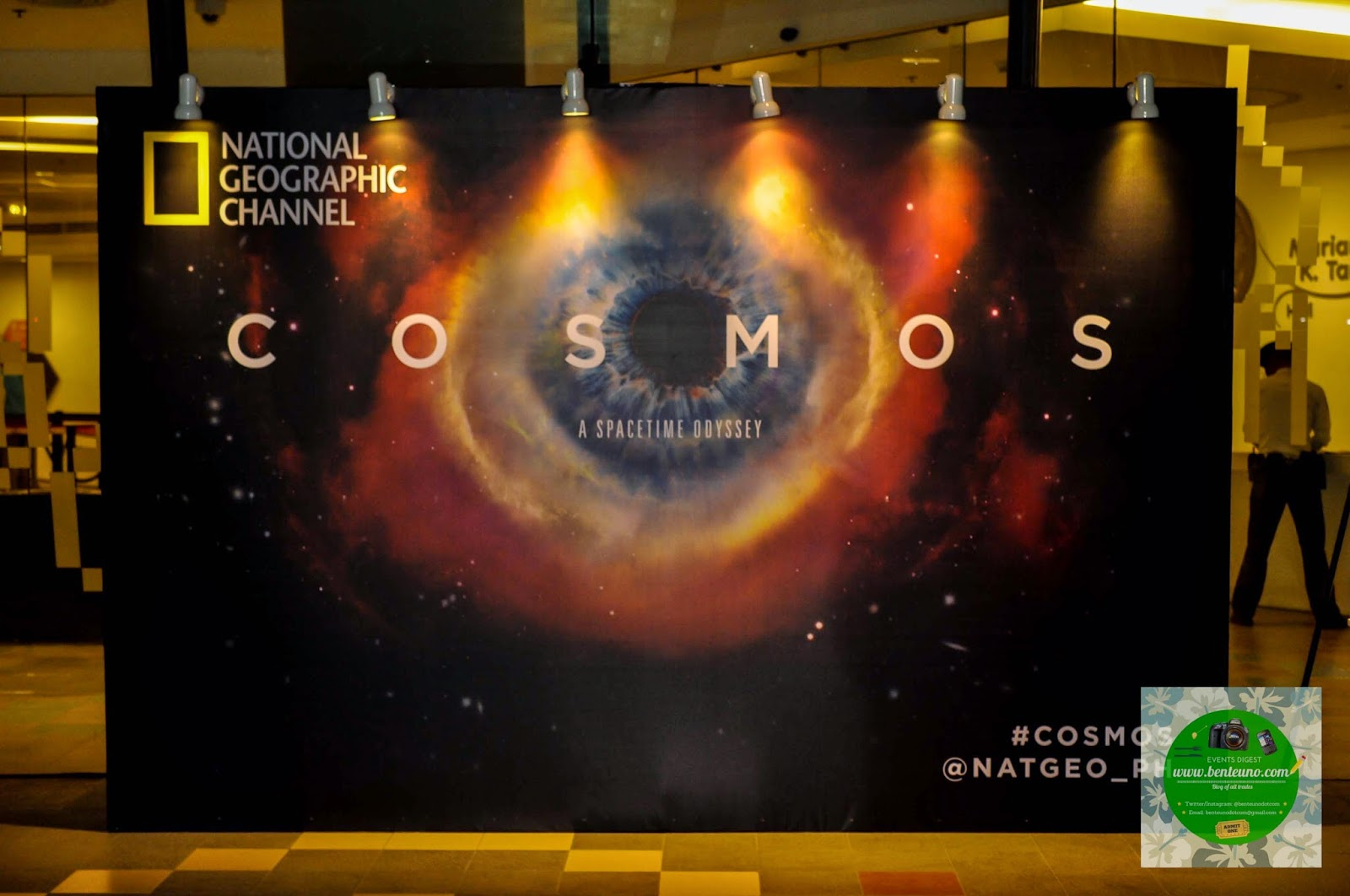 Cosmos: Space Odyssey backdrop at the Mind Museum