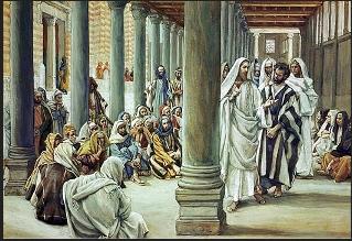 Jesus at the Feast of Dedication - James Tissot