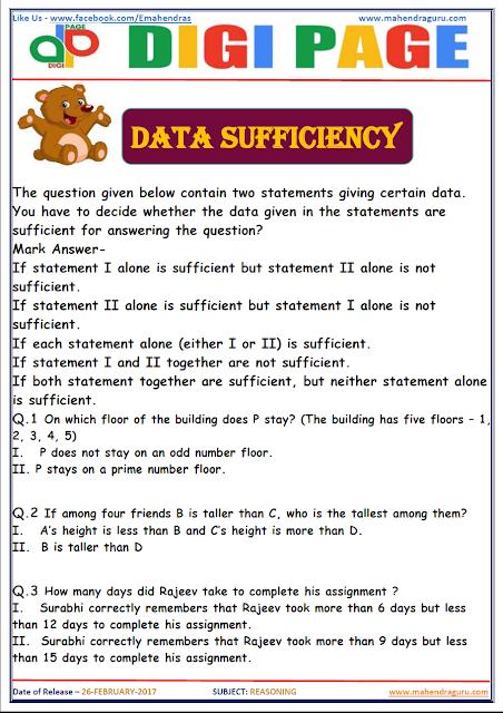 DP | DATA SUFFICIENCY | 26 - FEB - 17