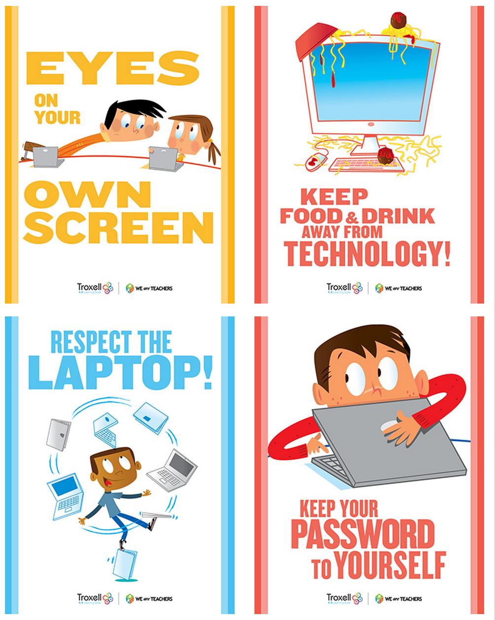 technology posters classroom tech class educational