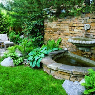 Image models fountain pond minimalist home page