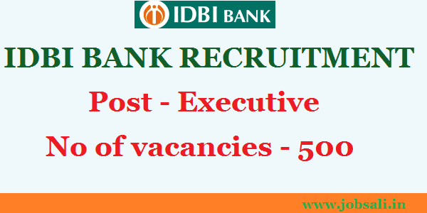 IDBI Bank career, Career in Banking, graduate jobs