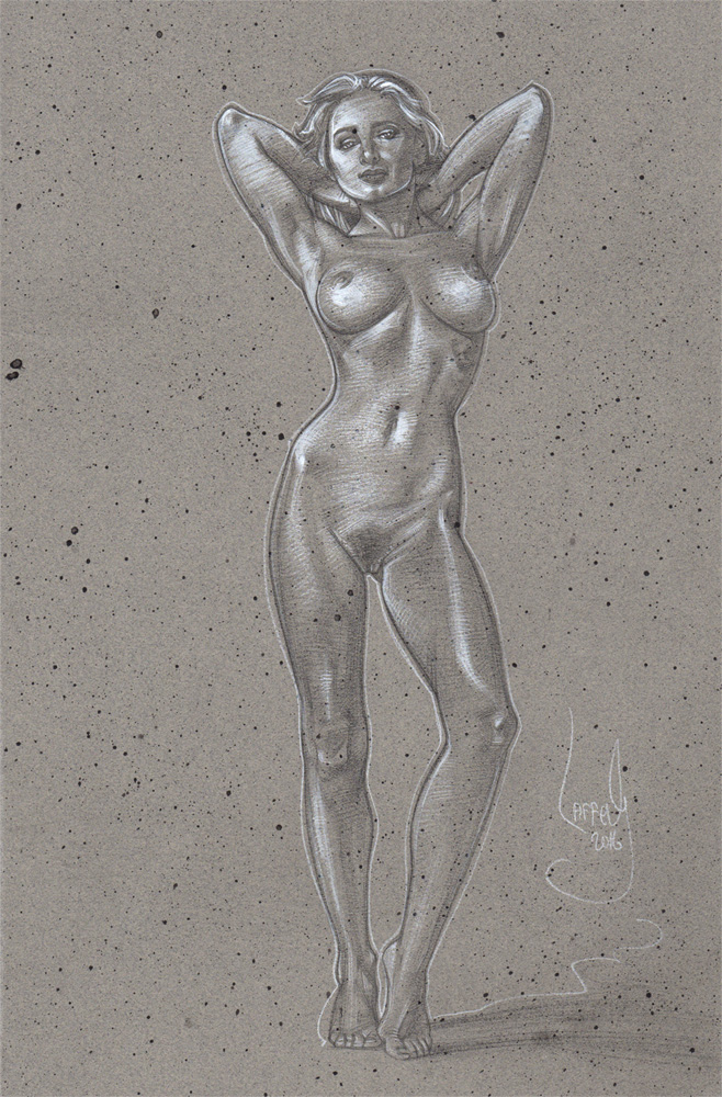 Standing Nude, Artwork© Jeff Lafferty