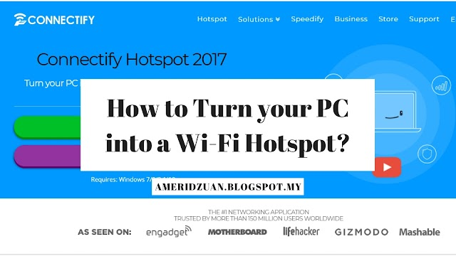 How to Turn your PC into a Wi-Fi Hotspot?
