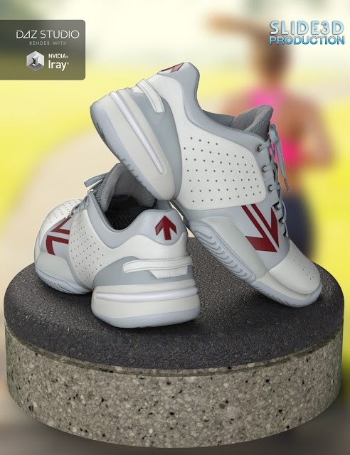 Slide3D Real Sneakers II for Genesis 3 Female