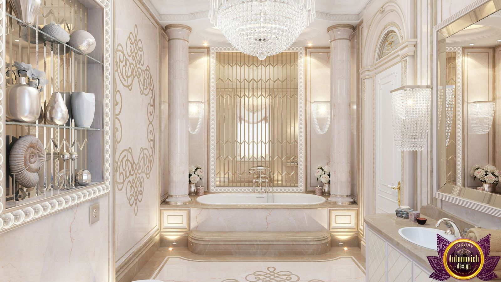 Luxury antonovich design uae luxurious bathroom design by for Bathroom design uae