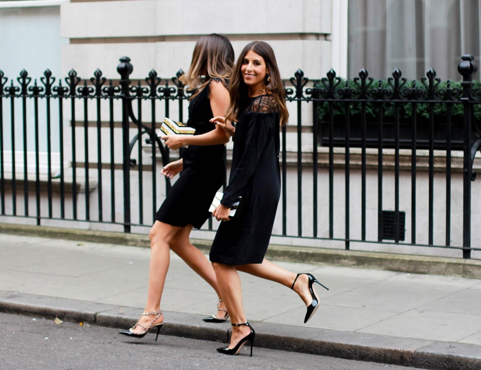 Black dress heels - Reiss Little Black Dress Designer Heels