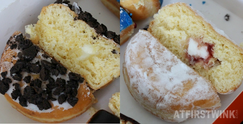 Dunkin' Donuts Netherlands White Chocolate Oreo Jelly filled shell
