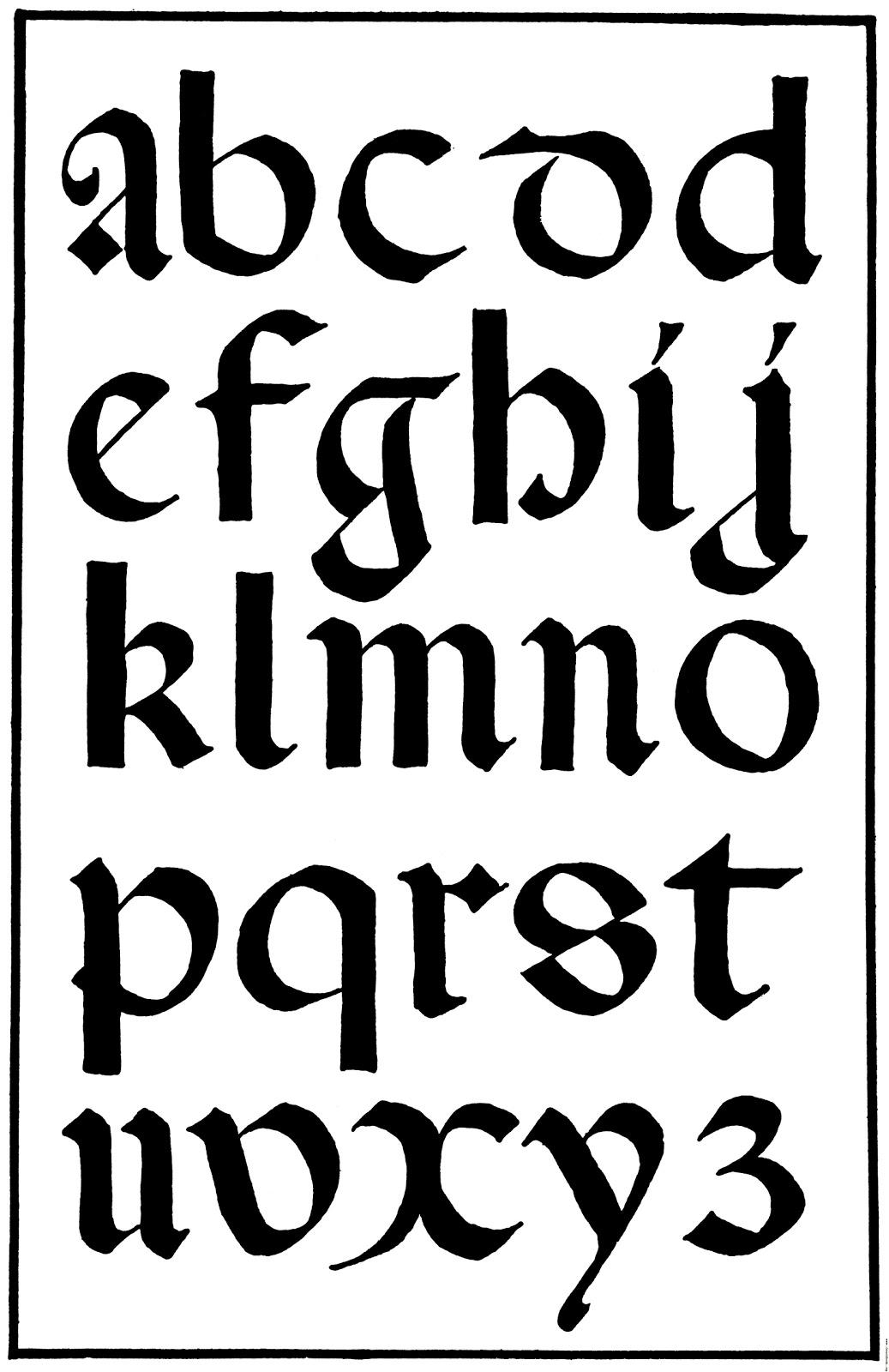 Spoodawgmusic: medieval calligraphy alphabet