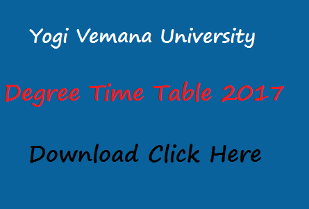 yvu degree time table 2017