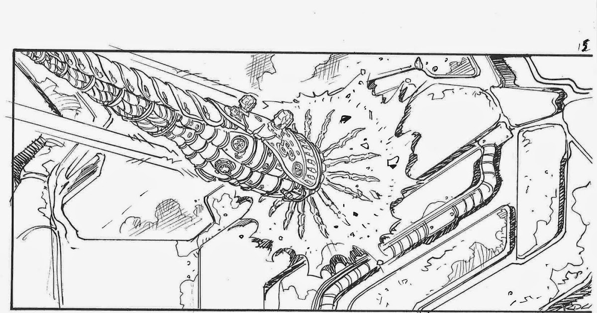 Ricardo Delgado's blog: Matrix storyboards- Bomb hits the ship