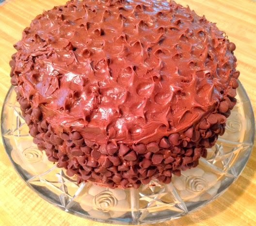 Triple Chocolate Cake with Brownie and Chocolate Chips Recipe