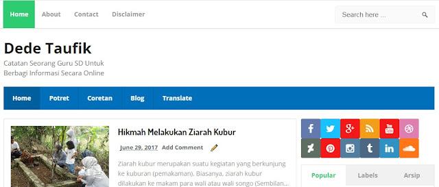 Blog Seorang Guru SD Untuk Berbagi Informasi Secara Online