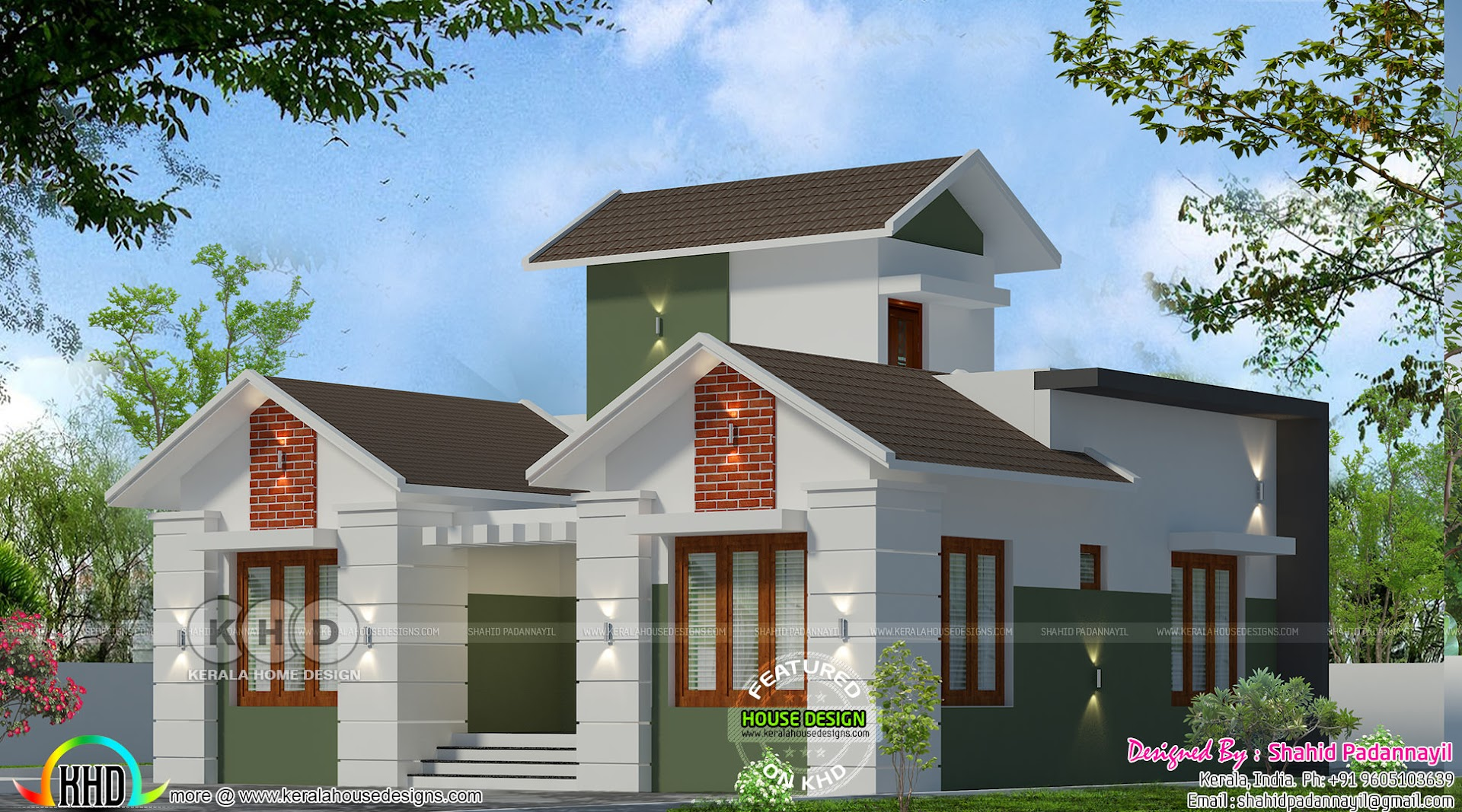 1130 Square Feet 2 Bhk Home With Stair Room Kerala Home Design Bloglovin
