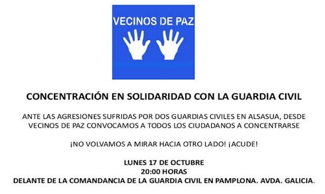 Guardia Civil: en Navarra os queremos y os necesitamos