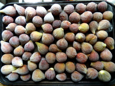 First figs went into the freezer for jam making this winter.