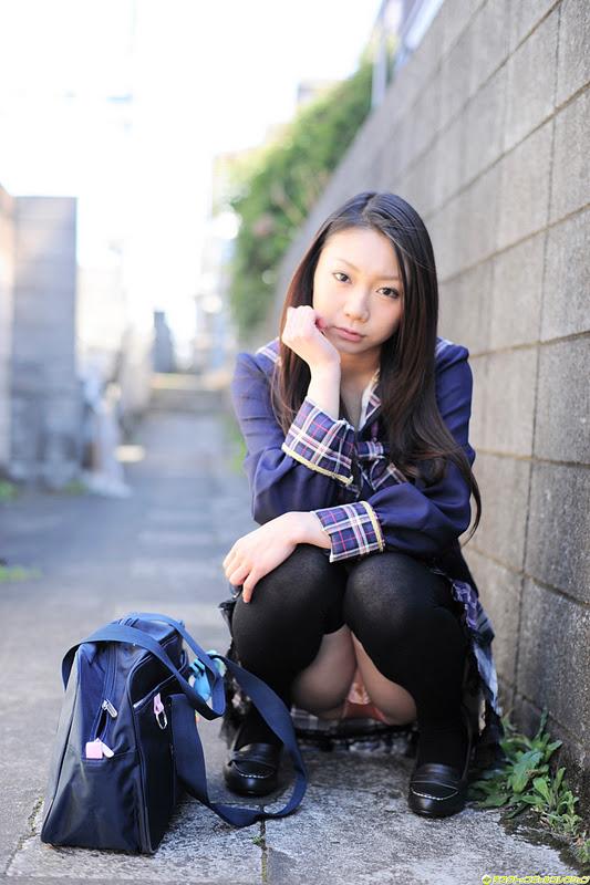 Japanese Girl - Tomoyo Hoshino as Sexy Schoolgirl