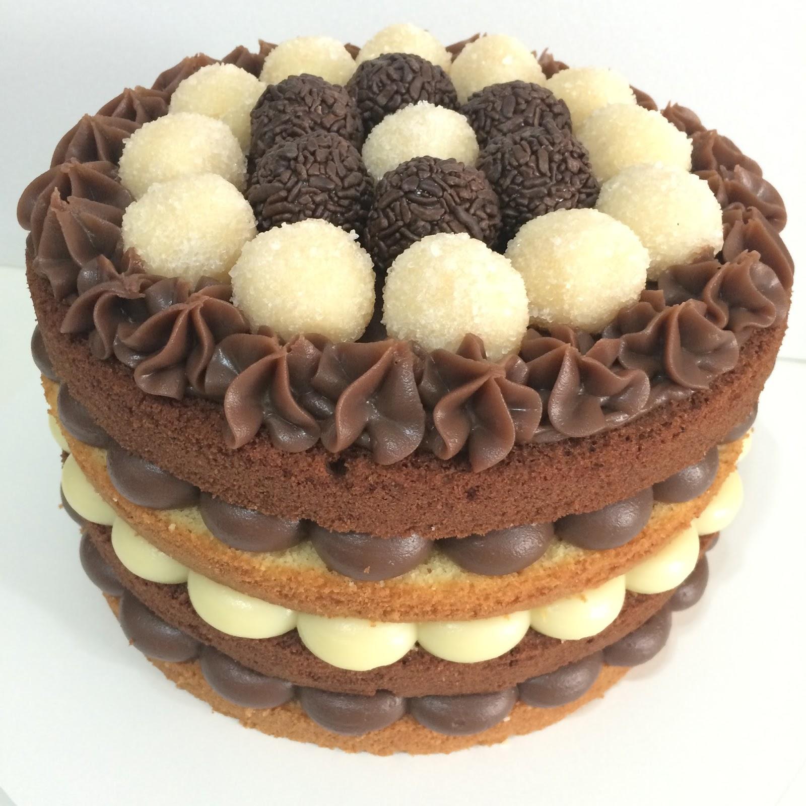 Pin em Naked Cake