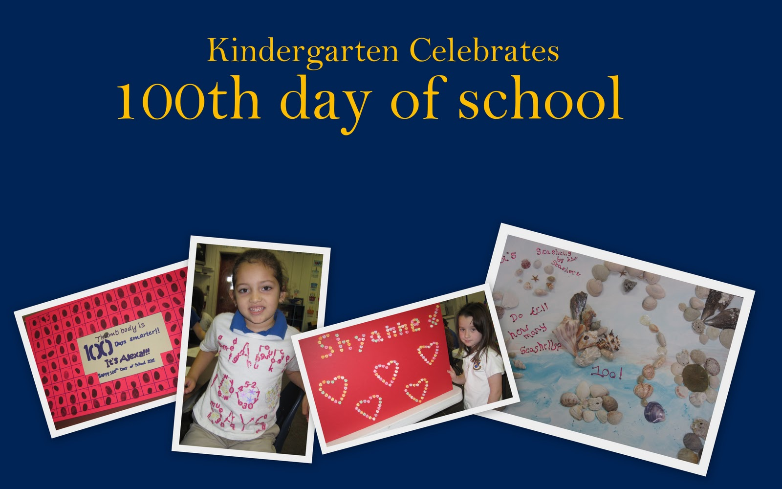 Blue Amp Gold Kindergarten Celebrates The 100th Day Of School