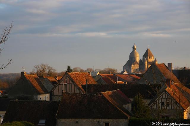 Vue sur les toits de Provins, Seine et Marne