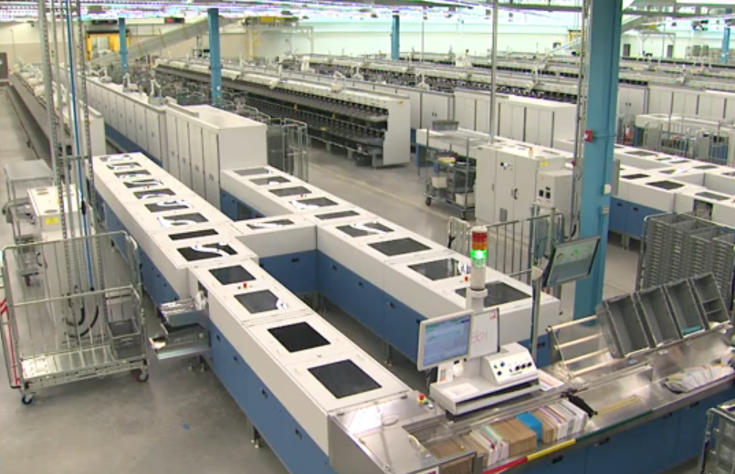Apparel Machinery Mail: Postal History Corner: Inside A Modern Mail Processing Plant