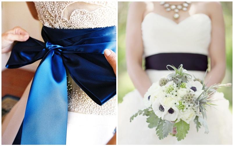 Cinturones de color para tu vestido de novia
