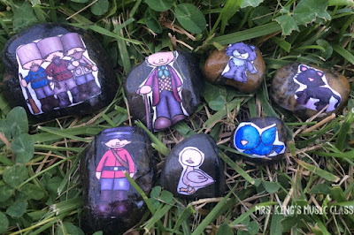 How to Make and Use Singing Rocks (also known as story stones) by Tracy King  An easy DIY tutorial for making singing rocks or story stones to teach storytelling, sequencing, improvisation and even OPERA!  Great for many themes including: fairy tales, Bible stories, camping, outer space, ocean, Peter and the Wolf, Carnival of Animals and more.  No paint pens or Sharpies are needed for this great teacher craft!