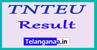 TNTEU Result 2017 Tamil Nadu Teachers Education University