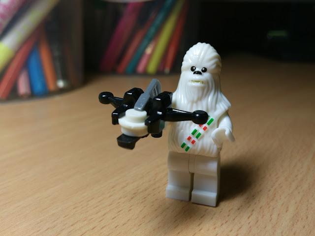 Чубакка снежный лего