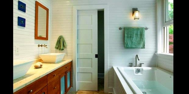 gambar pintu kayu kamar mandi model geser