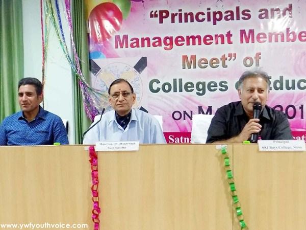 Jind University VC Ranjeet Singh At Shah Satnam Ji College of Education