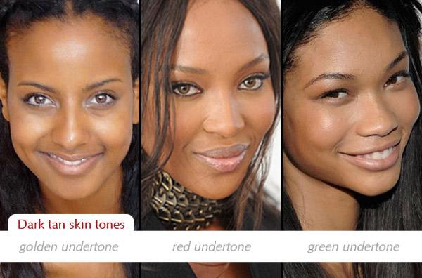 Make up charts: Determining dark skin tones and undertones