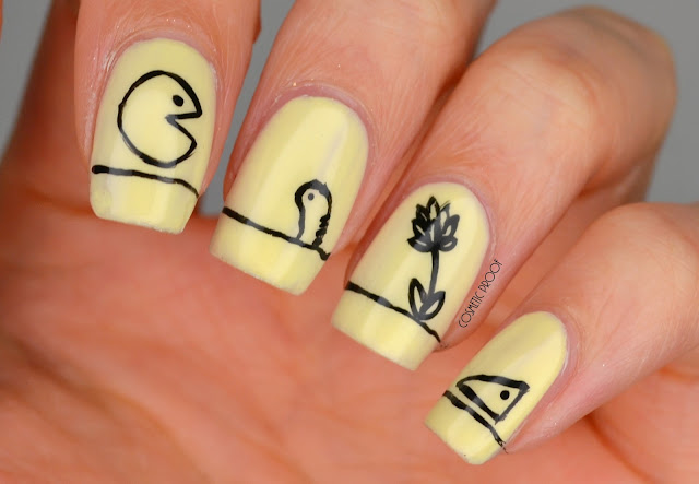"Shel Silverstein ""The Missing Piece"" Nail Art"