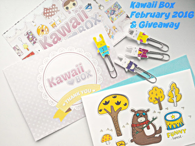 Kawaii Box February 2016 and Giveaway