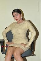 Actress Pooja Roshan Stills in Golden Short Dress at Box Movie Audio Launch  0065.JPG
