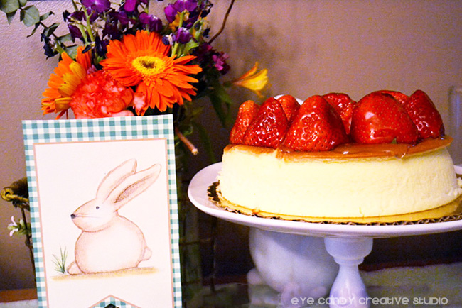 bunny sign, easter decor, easter table decor, easter cake, cheesecake