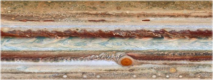 novo mapa de Júpiter mostra que sua mancha está encolhendo, e possui uma nova característica