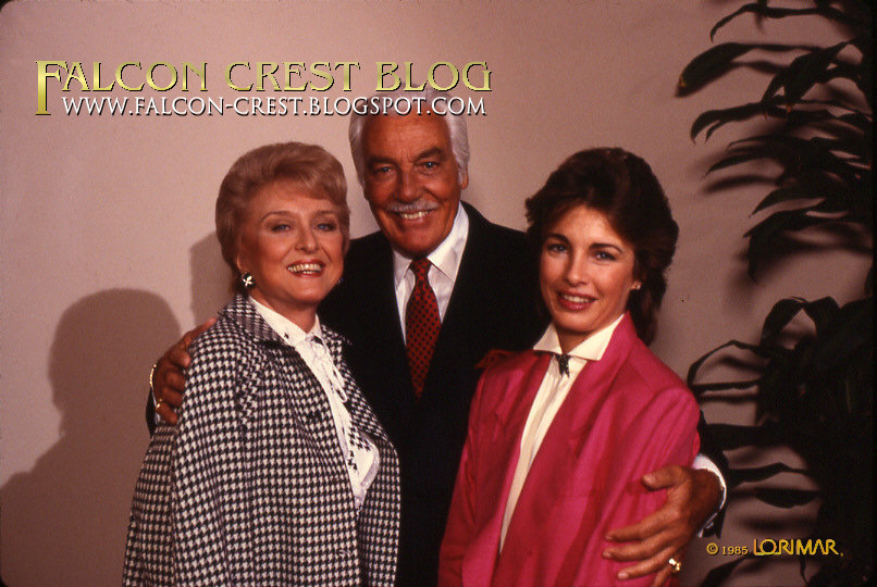 Celeste Holm With Cesar Romero And Anne Archer In Falcon Crest 1985