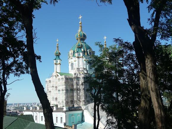 Киев. Андреевский спуск. Андреевская церковь. 1767 г.