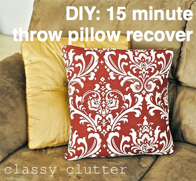 Amazing Recover A Throw Pillow In 15 Minutes Or Less Classy Clutter Creativecarmelina Interior Chair Design Creativecarmelinacom