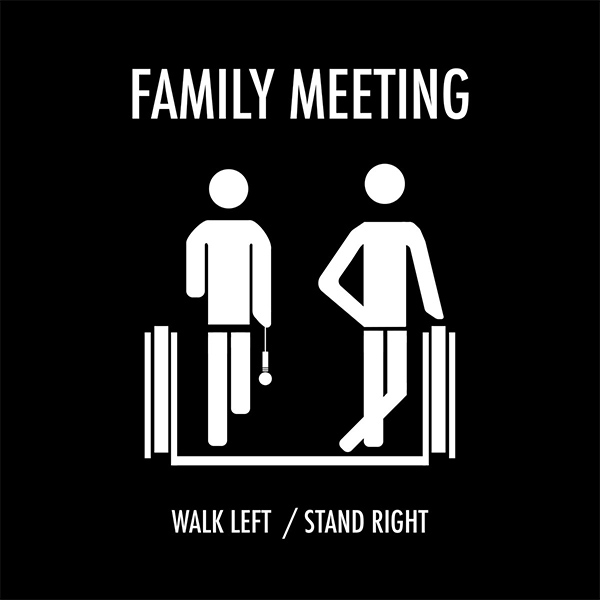"""Skatepunkers Exclusive: Family Meeting stream final EP """"Walk Left/Stand Right"""""""